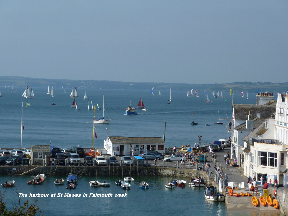 St Mawes harbour in Falmouth week