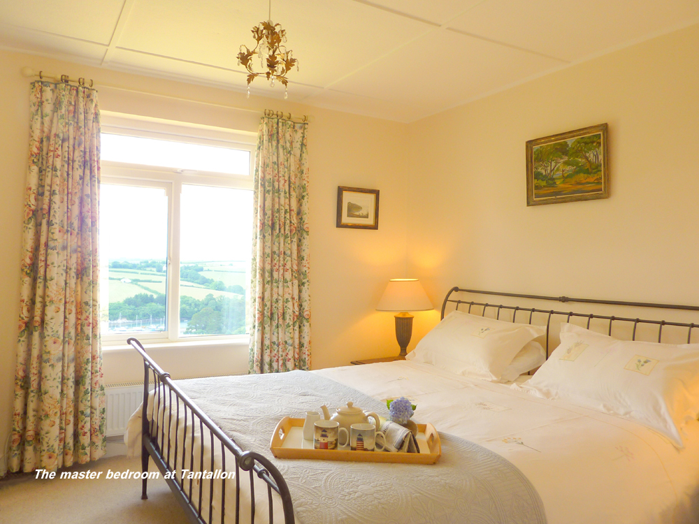 The master bedroom at Tantallon