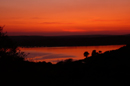 Sunset over Carrick Roads